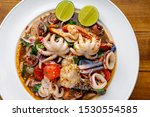 Thai Food  Spicy Mixed Seafood...