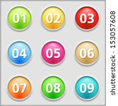 set of round buttons with...