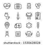 set of medical thin line icons. ... | Shutterstock .eps vector #1530628028