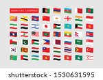 Waves Flag Of Asian Country ...
