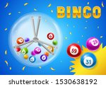 bingo or lottery card with... | Shutterstock .eps vector #1530638192