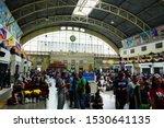 Crowd Of People At Hualamphong...
