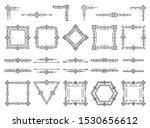 art deco text frame  monogram ... | Shutterstock .eps vector #1530656612