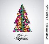 christmas design over gray... | Shutterstock .eps vector #153067622