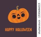 cute pumpkin illustration.... | Shutterstock .eps vector #1530686015