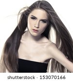 portrait of the beautiful young ... | Shutterstock . vector #153070166