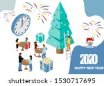 merry christmas and happy new...   Shutterstock .eps vector #1530717695