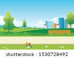 downtown nature landscape with... | Shutterstock .eps vector #1530728492