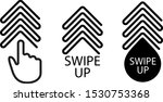 swipe up  set of buttons for... | Shutterstock .eps vector #1530753368