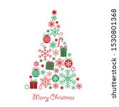 merry christmas greeting card... | Shutterstock .eps vector #1530801368