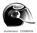 Motorcycle Helmet Isolated On White - stock vector