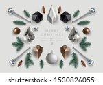 christmas background with... | Shutterstock .eps vector #1530826055