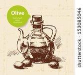 vintage olive background. hand... | Shutterstock .eps vector #153085046
