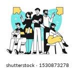portrait of creative confident... | Shutterstock .eps vector #1530873278