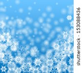 white snowflakes on a blue... | Shutterstock .eps vector #153088436