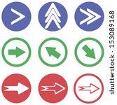 arrows sign icon set  vector