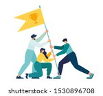 vector illustration  teamwork ... | Shutterstock .eps vector #1530896708