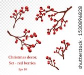 christmas decorative branches... | Shutterstock .eps vector #1530896828