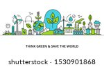 concept of think green and save ... | Shutterstock .eps vector #1530901868