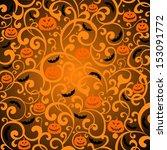 halloween background. ... | Shutterstock . vector #153091772