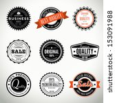 quality vintage set of seals ... | Shutterstock .eps vector #153091988