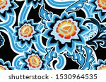 seamless pattern with floral...   Shutterstock .eps vector #1530964535