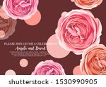 floral invitation with gentle... | Shutterstock .eps vector #1530990905