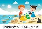 little children cleaning the... | Shutterstock .eps vector #1531021745