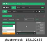 header menu ui element green