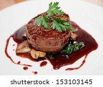 tenderloin steak wrapped in...   Shutterstock . vector #153103145