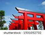 Stock photo traditional japanese shinto torii gate the iconically japanese gateways that typically mark the 1531052732