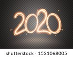 2020 sparkler sign. firework... | Shutterstock .eps vector #1531068005