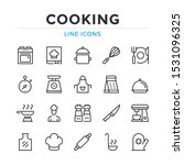 cooking line icons set. modern... | Shutterstock .eps vector #1531096325