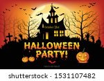 castle  haunted house and ghost ... | Shutterstock .eps vector #1531107482