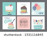 set of birthday greeting cards... | Shutterstock .eps vector #1531116845