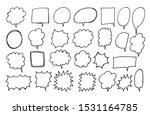 vector bubbles speech doodle... | Shutterstock .eps vector #1531164785