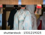Stock photo scenery of the shinto style wedding ceremony in japan 1531219325