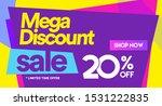 20 off mega discount  sales... | Shutterstock .eps vector #1531222835