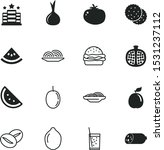 food vector icon set such as ... | Shutterstock .eps vector #1531237112