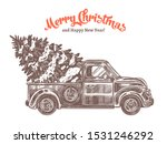 delivery of christmas tree on... | Shutterstock .eps vector #1531246292