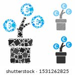 euro tree pot composition of... | Shutterstock .eps vector #1531262825