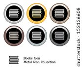 stack of books icon metal icon... | Shutterstock .eps vector #153126608