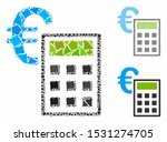 euro accounting mosaic of bumpy ... | Shutterstock .eps vector #1531274705