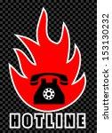 hot line   Shutterstock .eps vector #153130232
