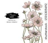 sketch floral botany collection.... | Shutterstock .eps vector #1531305692