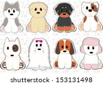 Cute Dog Set Stickers....