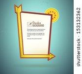 retro sign design  advertising... | Shutterstock .eps vector #153132362