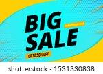 big sale banner template blue... | Shutterstock .eps vector #1531330838
