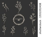 flowers set. set of thin line...   Shutterstock .eps vector #1531352438