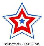 patriotic star design | Shutterstock .eps vector #153136235